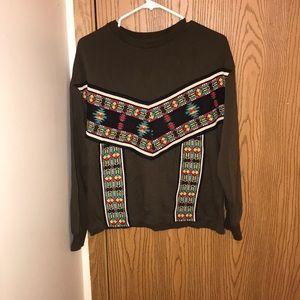 zara tribal sweat shirt